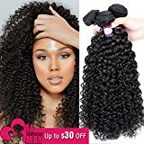8A Brazilian Virgin Curly Hair 3 Bundles (24 24 26 inch) Remy Hair Extensions Natural Color Brazilian Kinkys Curly Hair Real Human Hair Weave