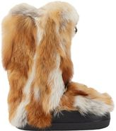 Fur Moon Boots-Brown