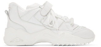 Maison Margiela White Retro-Fit Midi Sneakers