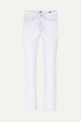 Eytys Cypress Twill Cropped High-rise Straight-leg Jeans - White