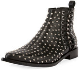 Alexander McQueen Studded Flat Leather Bootie