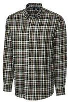 Cutter & Buck Men's Long Sleeve Hansen Plaid Woven Shirt
