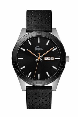 Lacoste Men's Legacy Stainless Steel Quartz Watch with Leather Strap Black 20 (Model: 2010982)