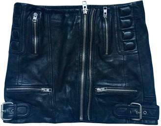 AllSaints Black Leather Skirt for Women