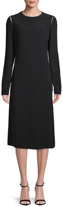 Lanvin Midi Silk-Lined Dress