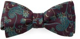 The Tie Bar Wine Trad Paisley Bow Tie