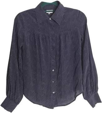 Brora Navy Silk Top for Women