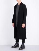 Boris Bidjan Saberi Waffle-knit cotton and wool-blend cardigan