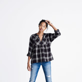 Madewell Bohème Popover Shirt in Hayden Plaid