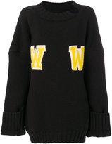 Off-White oversized WW sweater - women - Polyamide/Mohair/Wool - 38