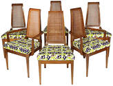 One Kings Lane Vintage 1960s Caned-Back Dining Room Chairs - Set of 6