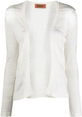 Missoni Embroidered Knit Cardigan