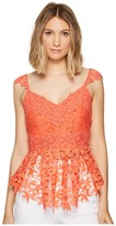 Nicole Miller Kinsey Crochet Lace Top Women's Clothing