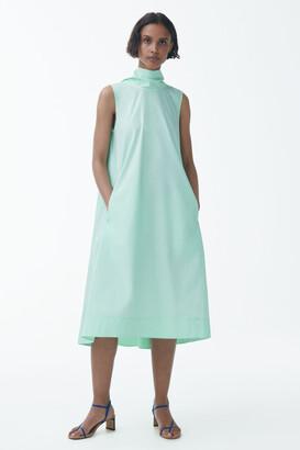 Cos Organic Cotton Circle Cut A-Line Dress