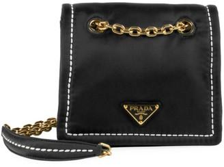 Prada Small Tessuto Chain Shoulder Bag