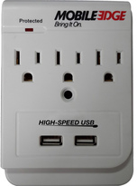 Mobile Edge Dual Power DX (3 AC and 2 USB Wall Outlet)