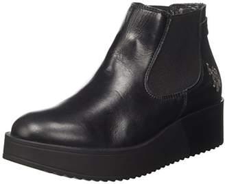 U.S. Polo Assn. Women's Sapphire Leather Chelsea Boots, Black (Nero BLK)