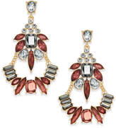 INC International Concepts Gold-Tone Multi-Crystal Chandelier Earrings, Created for Macy's