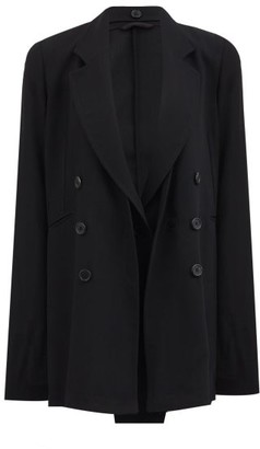 Ann Demeulemeester Single-breasted Wool-crepe Jacket - Black
