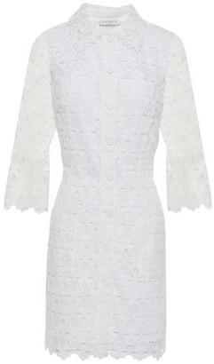 Sandro Lauretta Guipure Lace Mini Shirt Dress