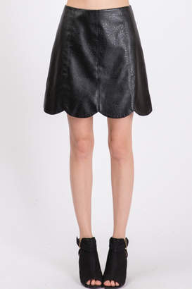 Lyn Maree's Vegan Leather Scallop Skirt
