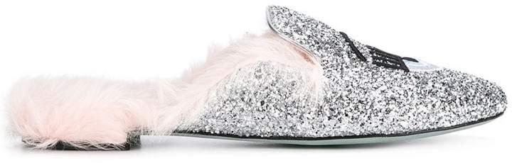 Chiara Ferragni Flirting glitter mules
