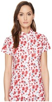 Emporio Armani Poppy Dream Cotton Loungewear Button Down Sleep Shirt Women's Pajama