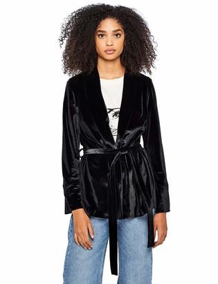 Find. Amazon Brand Women's Velour Tie Waist Jacket