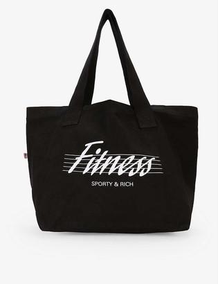 Sporty & Rich Fitness slogan-print cotton tote bag