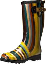 Chooka Women's Inlaid Stripe Rain Boot, color