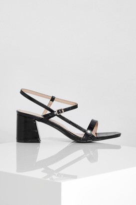 boohoo Strappy Low Block Heel Sandals