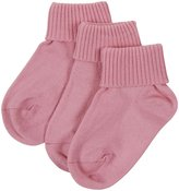 Jefferies Socks 3 Pack Triple Roll (Toddler/Kid) - Hot Pink-12-6