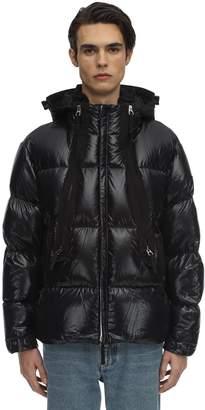 Burberry Hooded Nylon Zip-Up Jacket
