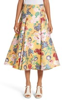 Valentino Women's Romantic Garden Brocade Skirt