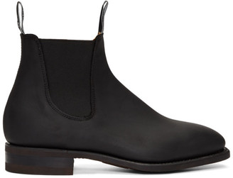 R.M. Williams Black Oily Fern Comfort Craftsman Chelsea Boots
