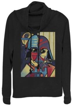 Fifth Sun Star Wars Darth Vader Picasso Cubism Helmet Cowl Neck Sweater