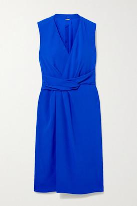 Adam Lippes Draped Wrap-effect Crepe Dress - Royal blue