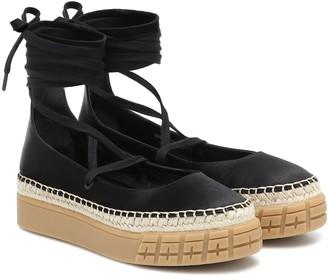 Prada Satin platform espadrille sandals