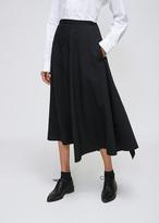 Yohji Yamamoto Black Gather Frill Skirt