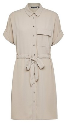 Dorothy Perkins Womens Stone Drawstring Shirt Dress