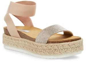 Steve Madden Women's Kyleigh Rhinestone Flatform Sandals