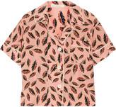 Araks Shelby Printed Silk Crepe De Chine Pajama Top - Pastel pink