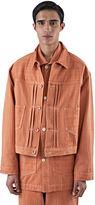 Story Mfg. Men's Sundae Denim Twill Jacket In Madder Orange