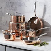 Crate & Barrel Fleischer and Wolf Seville Hammered Copper 10-Piece Cookware Set
