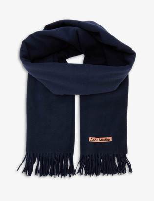 Acne Studios Canada New logo-embroidered wool scarf
