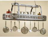 Hi-Lite Leaf Rounded Hanging Pot Rack with 3 Lights