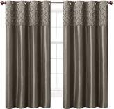 Asstd National Brand Roxanne Pintuck Grommet-Top Curtain Panel