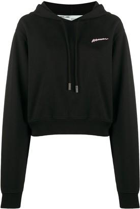Off-White Woman print hoodie