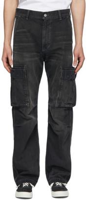 Neighborhood Black Washed C-PT Cargo Jeans