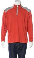 Zegna Sport Woven Zip Sweater